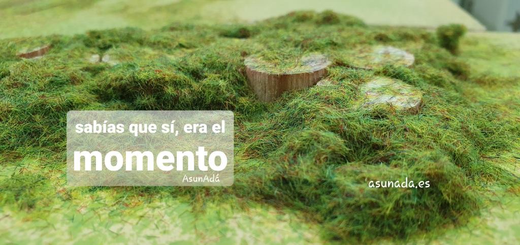 Caja de texto: sabías que sí, era el momento. Por AsunAdá www.asunada.es