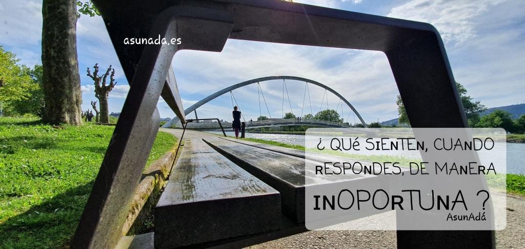 Caja de texto ¿Qué sienten, cuando le respondes, de manera inoportuna? por AsunAdá www.asunada.es